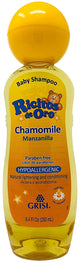 Chamomile Ricitos de Oro Shampoo| Baby Shampoo with Pop-Up Rattle Cap - 8.4 oz