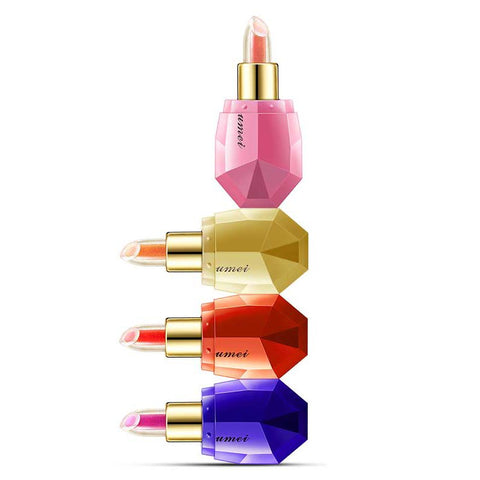 Crystal Lipstick - Set of 4   +1 FREE Flower Lipstick (random)
