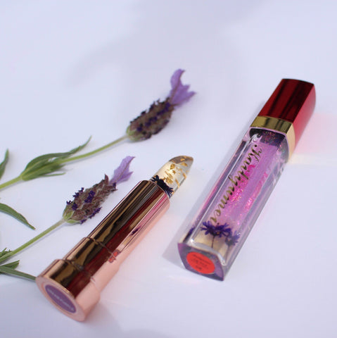 Pixie Rose Lipstick and Gloss Set+1 FREE Flower Lipstick (random)