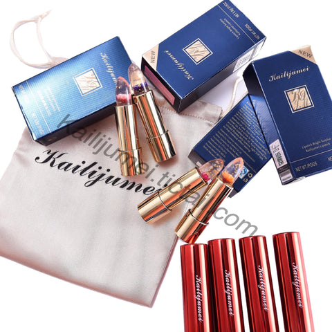 Kailijumei Lipsticks Set of Four+1 free Lipstick (random)