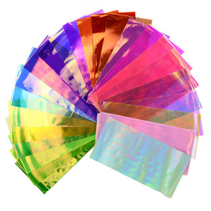 24 Pieces Nail Art Holographic Broken-Glass Cellophane Foils