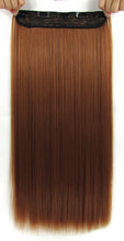 Load image into Gallery viewer, 22 Inches Straight Half Head Clip In Synthetic Hair Extensions