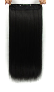 22 Inches Straight Half Head Clip In Synthetic Hair Extensions