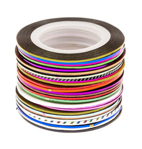 30 Mixed Colors Nail Art Striping Tapes