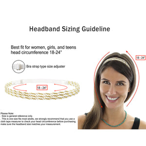 6 Pieces Adjustable Elastic Braided Plaited Women Headbands