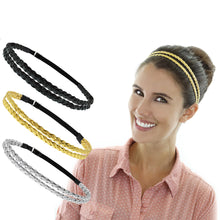 Load image into Gallery viewer, 6 Pieces Adjustable Elastic Braided Plaited Women Headbands