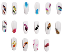Load image into Gallery viewer, 5 Sheets Nail Art Water Slide Decals Transfer Stickers