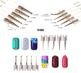 Bundle 50 Pieces Nail Art Tool Kit with Pouch – 5 Pieces Dotting Tool Marbleizing Pen (10 Sizes), 15 Pieces Acrylic Gel Detailing Painting Brushes Liners, 30 Pieces Striping Tapes