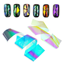 Load image into Gallery viewer, 24 Pieces Thin Iridescent Cellophane, Holographic Shattered Broken-Glass Nail Art Decorations