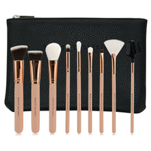 Load image into Gallery viewer, 9 Pieces Makeup Brush Set, Vegan Cruelty-Free Synthetic Bristles