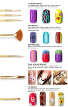 Load image into Gallery viewer, Bundle 50 Pieces Nail Art Tool Kit with Pouch