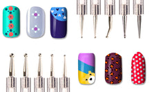 Load image into Gallery viewer, 5 Pieces (10sizes) 2-way Nail Art Dotting Tool Pen