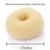 Hair Donut Bun Maker Ring Style Mesh Chignon Ballet Sock Bun (Beige Color)
