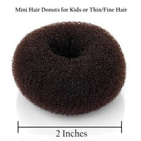Hair Donut Bun Maker Ring Style Mesh Chignon Ballet Sock Bun (Brown Color)