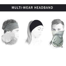 Load image into Gallery viewer, 2 Pieces Headbands with Buttons for Face Mask, Ear Pain Relief, Elastic Sport Athletic Fitness Sweatband