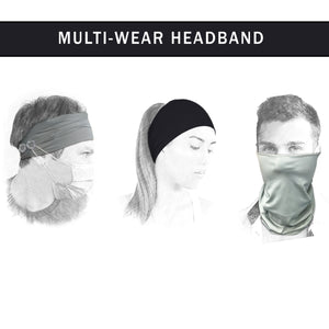 2 Pieces Headbands with Buttons for Face Mask, Ear Pain Relief, Elastic Sport Athletic Fitness Sweatband