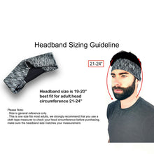 Load image into Gallery viewer, 3 Pieces Men Elastic Stretchy Sport Athletic Fitness Headbands