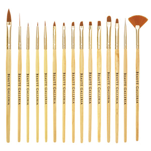 15 Pieces Nail Art Brush Set