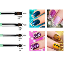 Load image into Gallery viewer, 4 Pieces UV Gel PolyGel Nail Brush Set (Size 6, 8, 10, 14)
