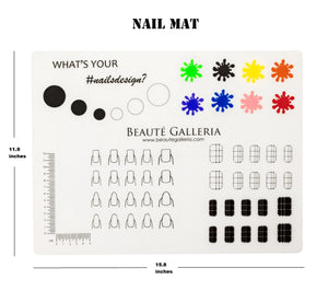 Rollable Silicone Nail Art Stamping Mat for Reverse Stamping
