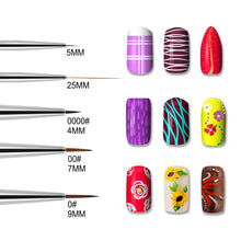Load image into Gallery viewer, 5 Pieces Nail Art Liners and Striping Brushes Set