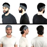 3 Pack Men Elastic Stretchy Sport Athletic Headband, Moisture Wicking Wide Non-Slip Soft Lightweight Sweatband, Perfect for Running Gym Yoga Workout Fitness