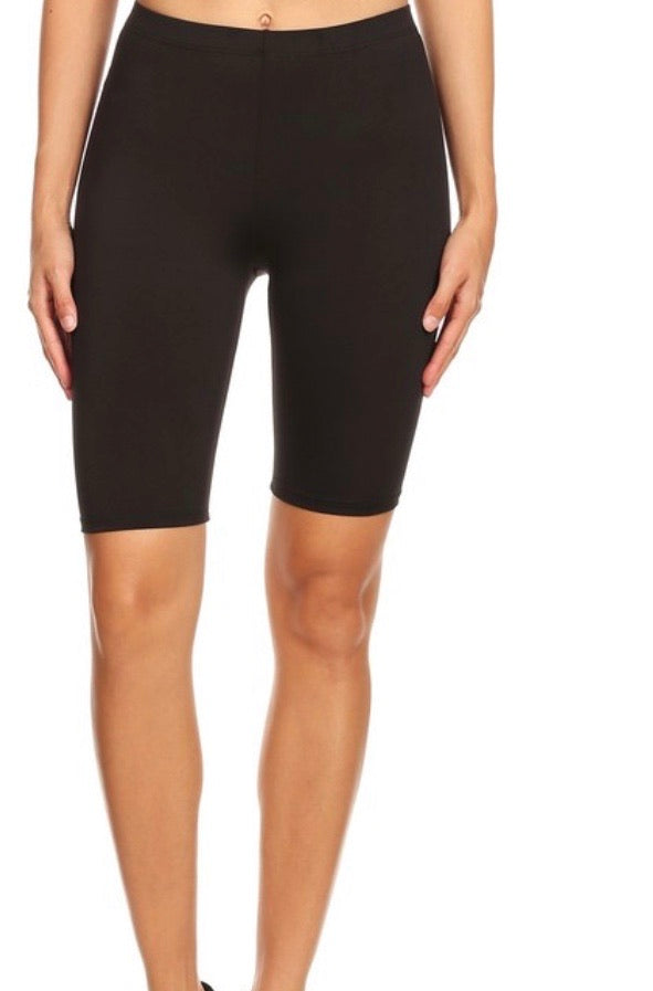 Stretch The Limit Black Biker Shorts