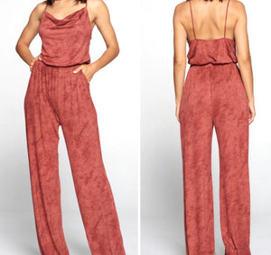 Make A Statement Wide Leg Flare Jumpsuit