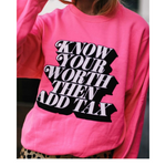 "Load image into Gallery viewer, ""Giving No Discount""  Oversized Graphic Sweatshirt"
