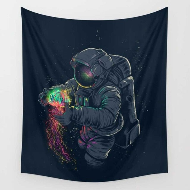 CAMMITEVER Tapestry Astronaut in Space - tapestryleps