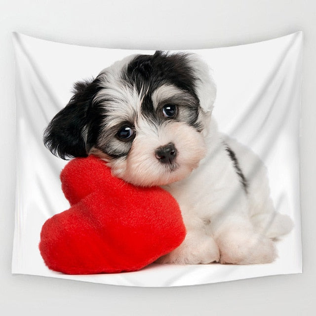 Comwarm Tapestry Puppy With Heart - tapestryleps