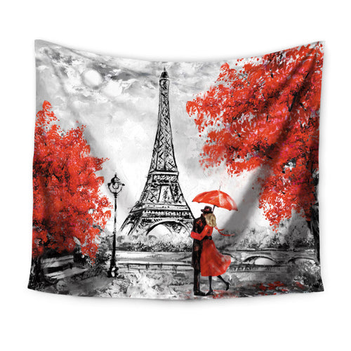 Miracille Tapestry Eiffel Tower - tapestryleps