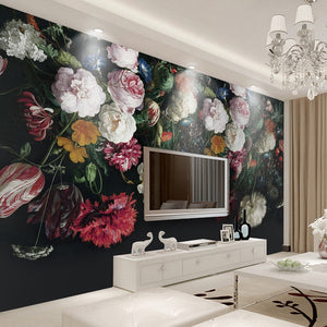 jiadou 3D Wall Art Retro Painted Floral - tapestryleps