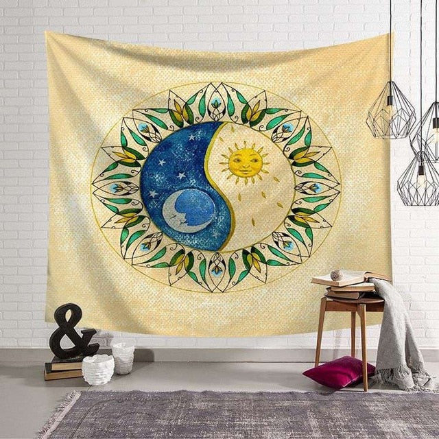 CAMMITEVER Tapestry Sun and Moon - tapestryleps