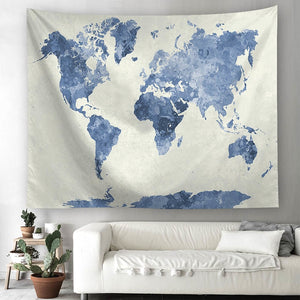 World Map Tapestry Purple - tapestryleps