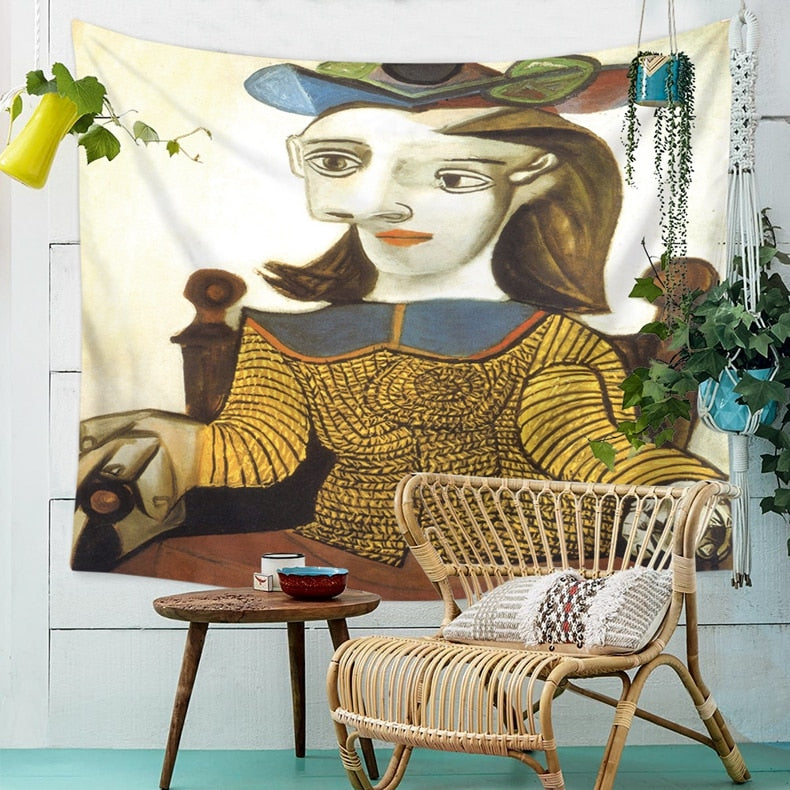 Enrol Tapestry Pablo Picasso - Le Pull-over jaune - tapestryleps