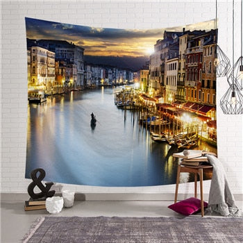Fudiya Tapestry Venice By Night - tapestryleps