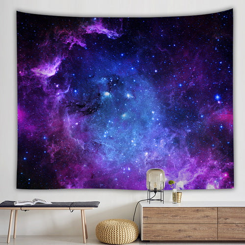 Galaxy Psychedelic tapestry Purple Space - tapestryleps