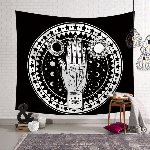 Sun Starry Tapestry Sacred Hand - tapestryleps