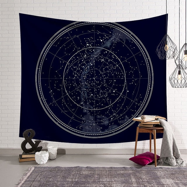 Sun Starry Tapestry Star Map - tapestryleps