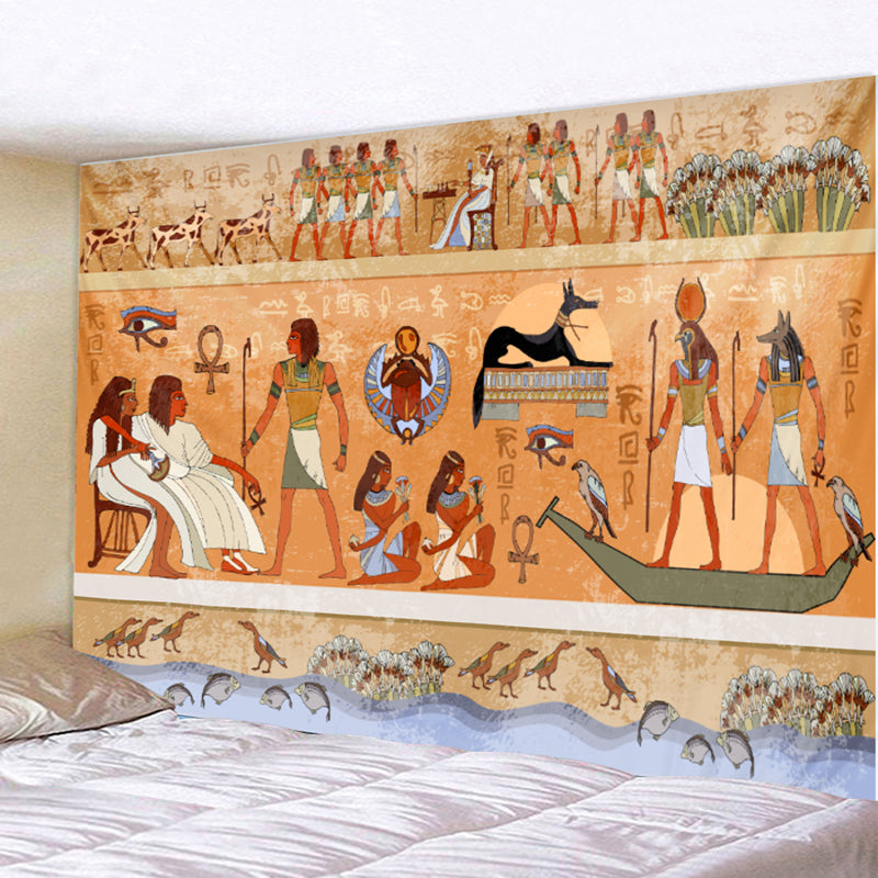 HoMe 3d Tapestry Egyptian Ancient Mural - tapestryleps
