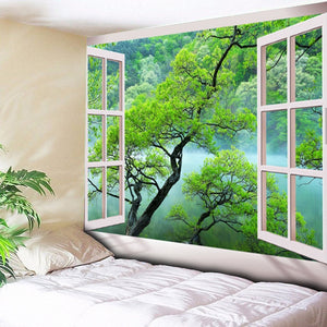 HoMe 3d Tapestry European Trees Scenery - tapestryleps