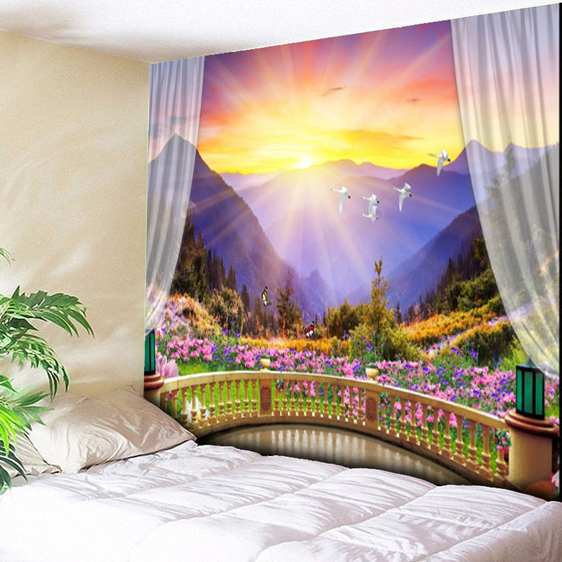 HoMe 3d Tapestry Purple Luxury - tapestryleps