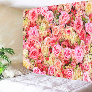 HoMe Tapestry Romantic Colorful Flowers - tapestryleps