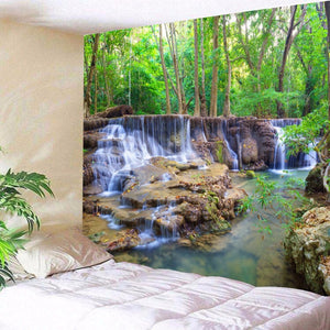 HoMe 3d Tapestry Forest Waterfall Scenery - tapestryleps