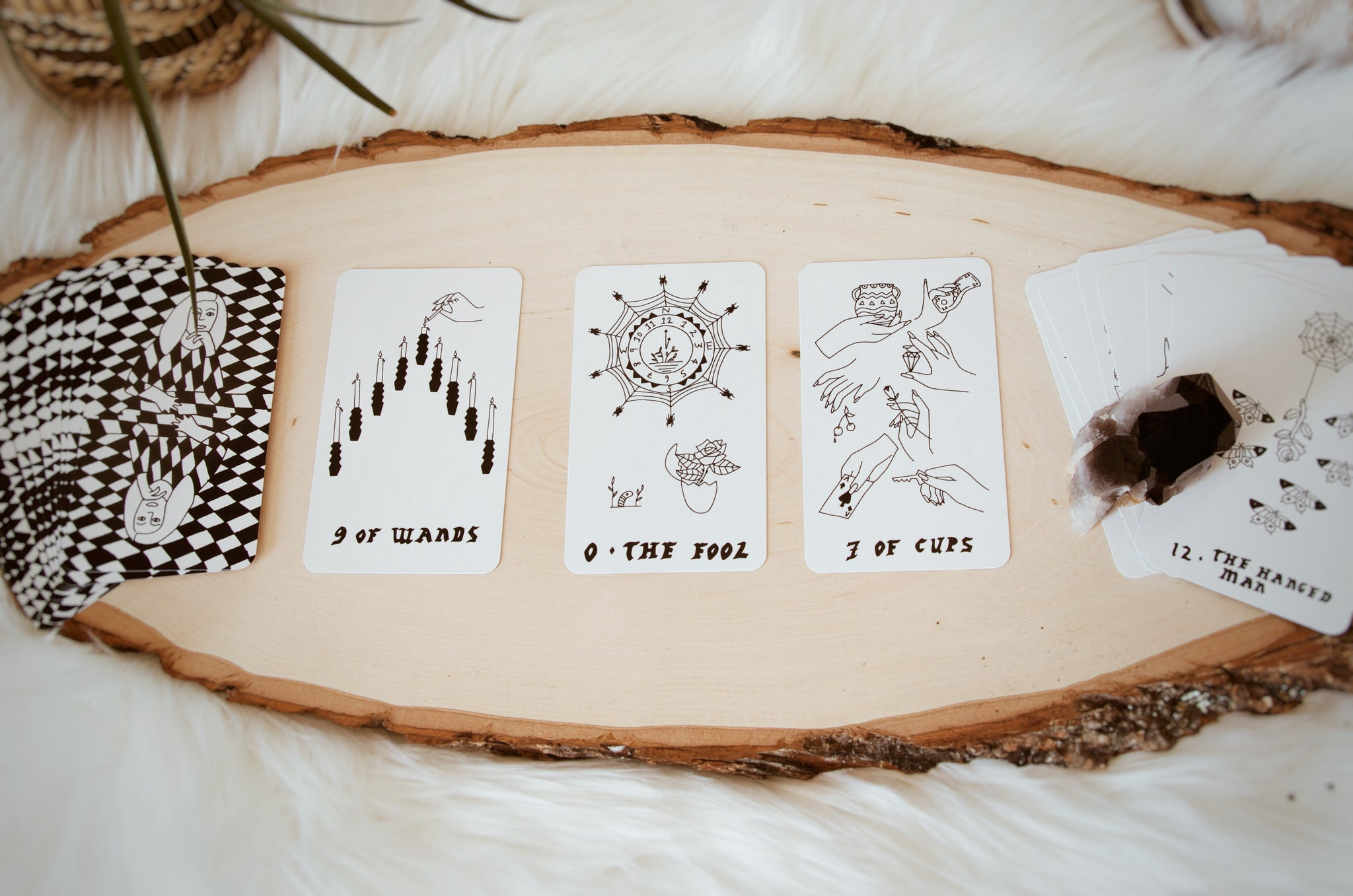small spells | black and white tarot deck