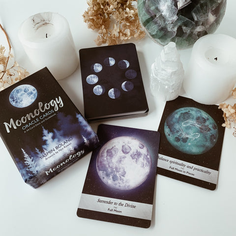 the Moonology Oracle card deck