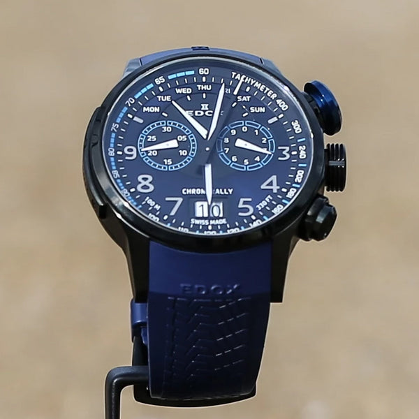 EDOX Chronorally / Dark Blue