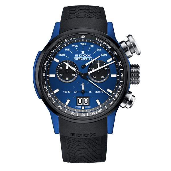EDOX Chronorally Chronograph / Blue