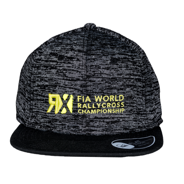 World RX Logo Embroidery Snapback Grey Melange